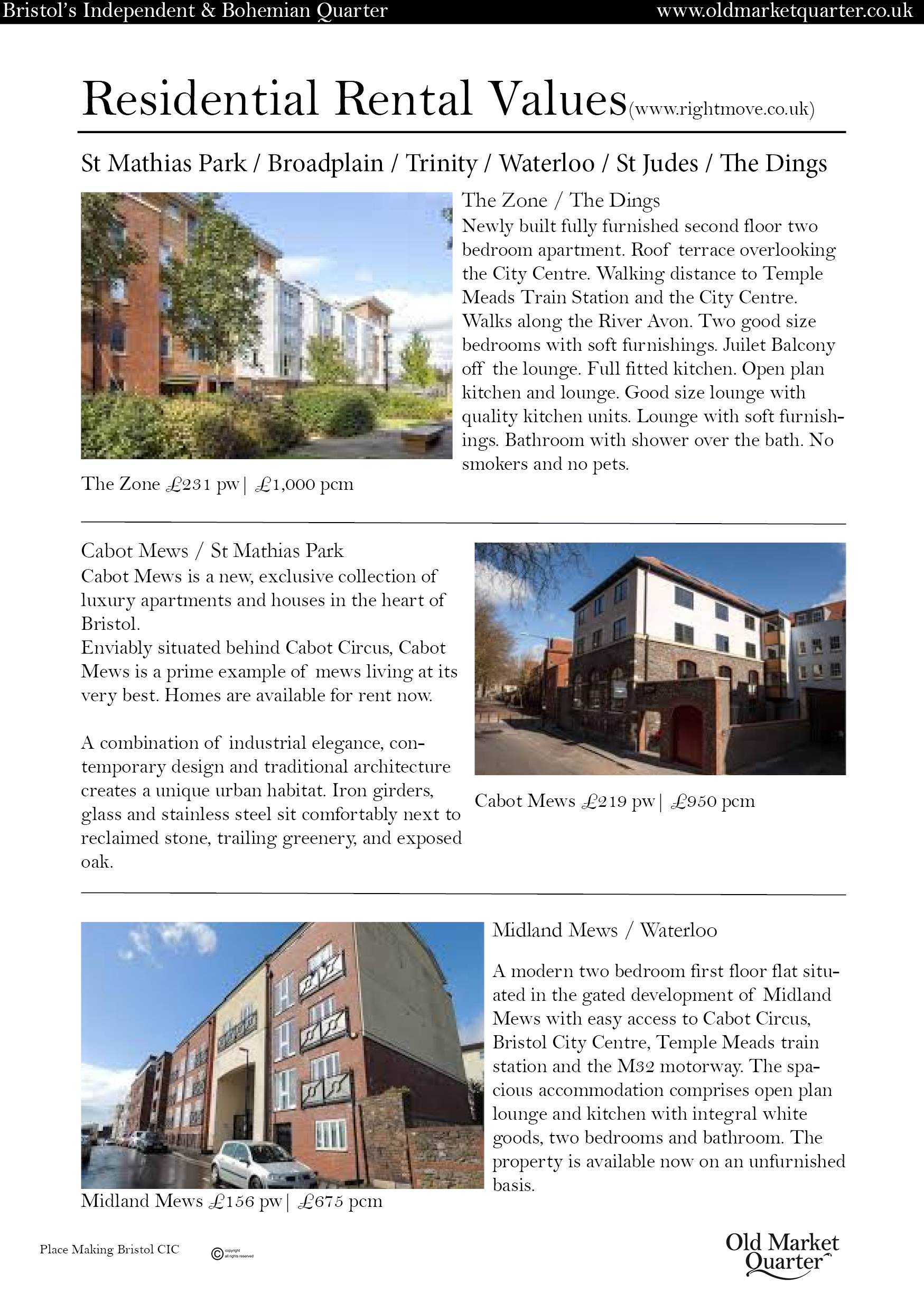 Old Market Quarter Strategic Plan Vision and progress10